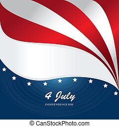 fourth july over flag background vector illustration