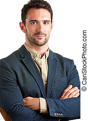 Casual Businessman - Casual businessman with arms crossed in...