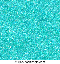 Crystal Blue Swimming Pool Water Seamless Pattern - Crystal...