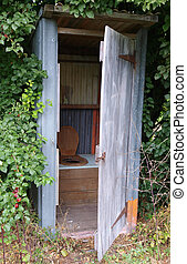 Old Outhouse with the Door Open