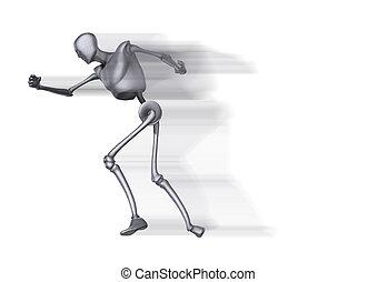 Running Metal Man