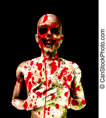 Bloody Dead Zombie - Killed zombie that is covered in its...