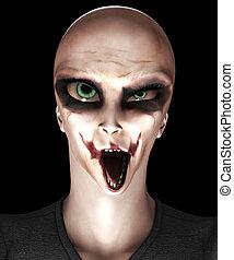 Zombie Alien - Hideous looking alien that is also a zombie