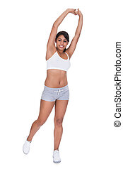 Young Happy Woman Exercising