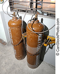 acetylene tank for welding in factory