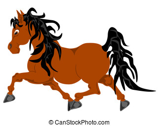 pony pacing - vector in editable eps format, pony pacing