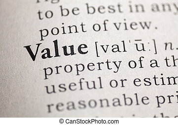 Value - Fake Dictionary, Dictionary definition of the word...
