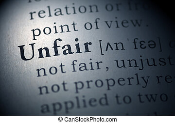 unfair - Fake Dictionary, Dictionary definition of the word...