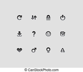Interface icons for signs and symbols. Vector illustration.