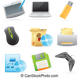 Icons for computer Vector illustration