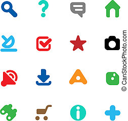 Buttons for website - Set of icons for websites Vector...