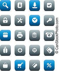 Matt buttons for internet