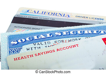 Identity theft. - Social security and driver license cards...