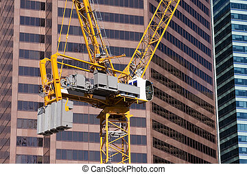 City construction crane. - Construction crane in downtown...