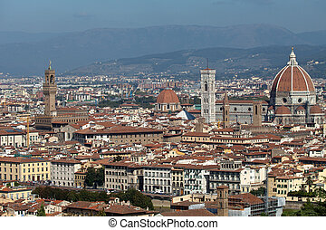 Florence,Tuscany, Italy . View from the Michelangelo's...
