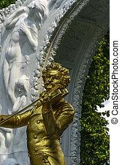 Johann Strauss statue from Stadt park