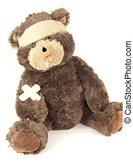 First Aid Bear - A bear wearing an ace bandage and band aids...