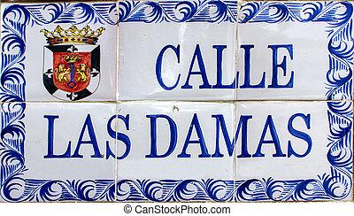 Street sign in Santo Domingo, Dominican Republic