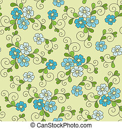 Floral seamless pattern with forget-me-not