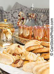 Moroccan tea - Typical cookies as presented by Moroccan...
