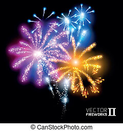 Wonderful Vector Fireworks - More beautiful vector fireworks...