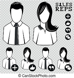 Sales Vector People - Sales Representatives People Icon...