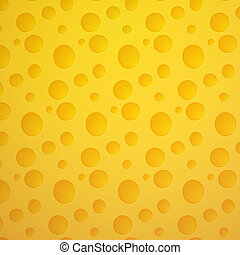 Cheese seamless pattern on yellow background in eps 10