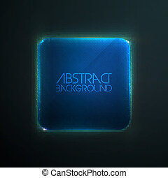 Glass frame ad abstract background - Realistic glass frame...