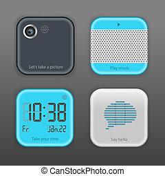 Vector App Icon Set, vector Eps10 image.