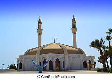 Anani Mosque in jeddah close up at afternoon