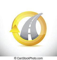 highway 360 design concept illustration design