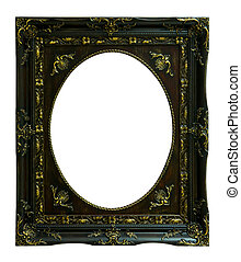 The antique wood frame