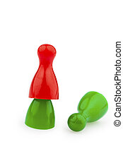 bullying as a team outsider - red and green pawns bullying,...