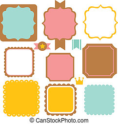 Cute Vintage Border - Vector File EPS10