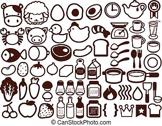 50  Food and Drink Icon - Vector File EPS10