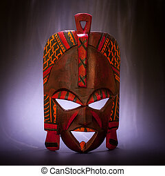 Black Magic - Tradional mask from Kenya (made of wood) with...