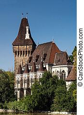 Copy of historical castle in Budapest, Hungary.