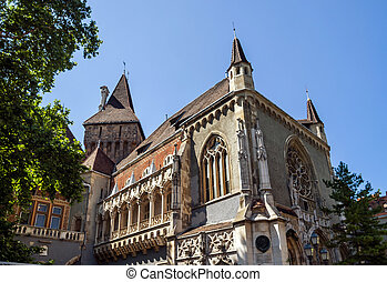 Copy of historical castle in Budapest, Hungary Agricultural...