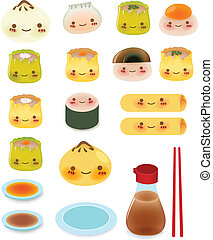 Cute DimSum Collection Vector File EPS10