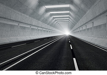 Tunnel road - Driving through an underground car tunnel...