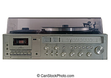 Old durty stereo - Retro stereo with radio and record player