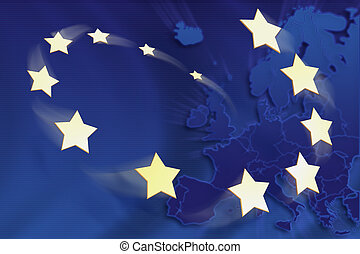European Union - Symbolic illustration of European Union