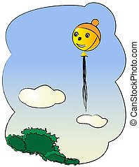 Illustration of a Balloon with hat