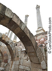 Ruins of agora, archaeological site in Izmir, Turkey