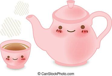 Teapot set : Vector File EPS10