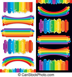 Set of Rainbow Design Elements. Vector Collection