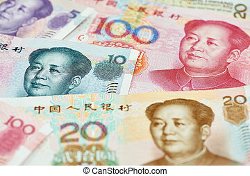 Chinese currency money yuan - Set of chinese currency money...