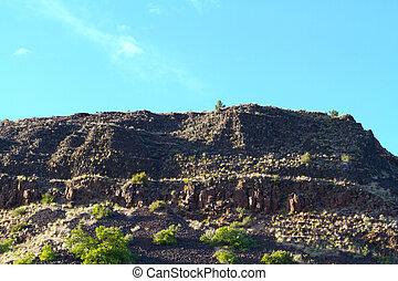 Abstract Canyon Wall