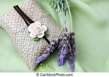 Soapy Gifts - Woven sachet containing soap with fresh...