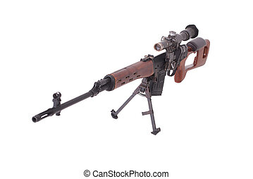 russian sniper rifle with optic sight